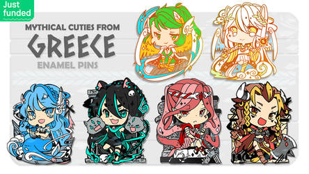 Kickstarter now LIVE : Mythical cuties from Greece