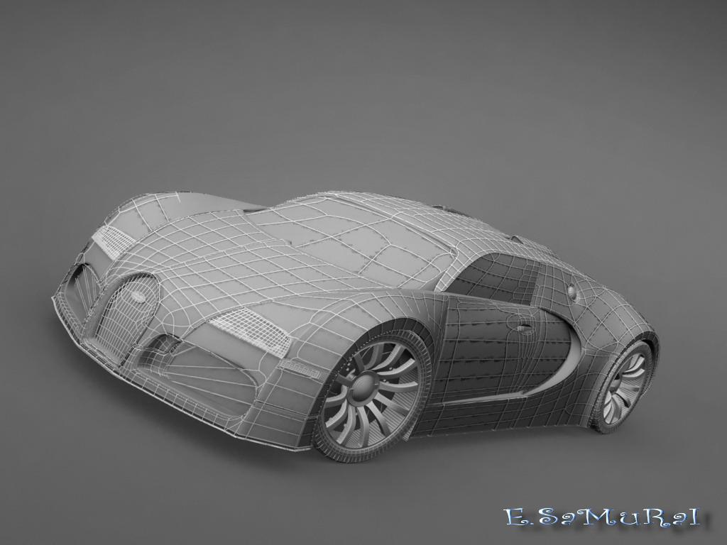 bugatti veyron v16 4 3d wire by e samurai on deviantart. Black Bedroom Furniture Sets. Home Design Ideas