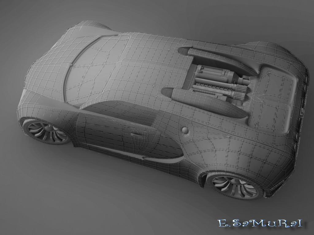 bugatti veyron v16 4 3d wire2 by e samurai on deviantart. Black Bedroom Furniture Sets. Home Design Ideas