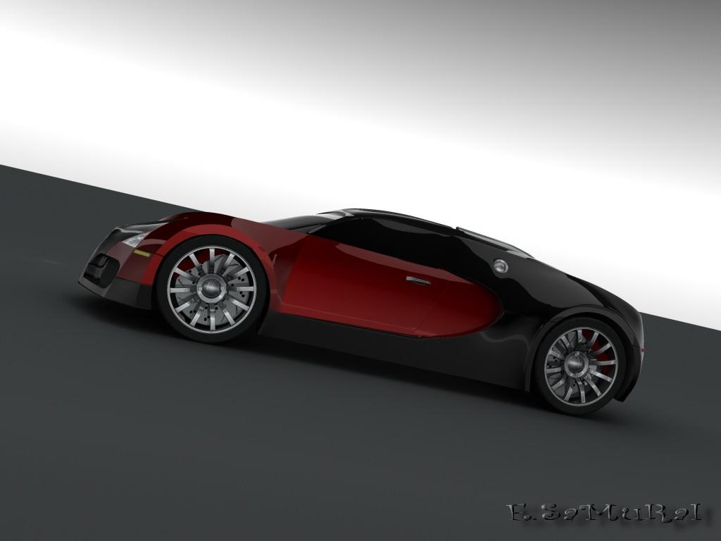 bugatti veyron v16 4 side view by e samurai on deviantart. Black Bedroom Furniture Sets. Home Design Ideas