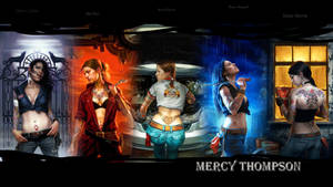 Mercy Thompson BookCovers Wall by LadieButterfly