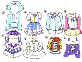 Outfit Adopts Set - 10pts - OPEN by tsokolate-adopts