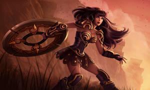 Warrior princess Sivir by dominaART