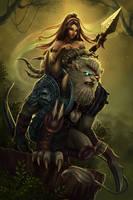 Rengar and Nid by dominaART