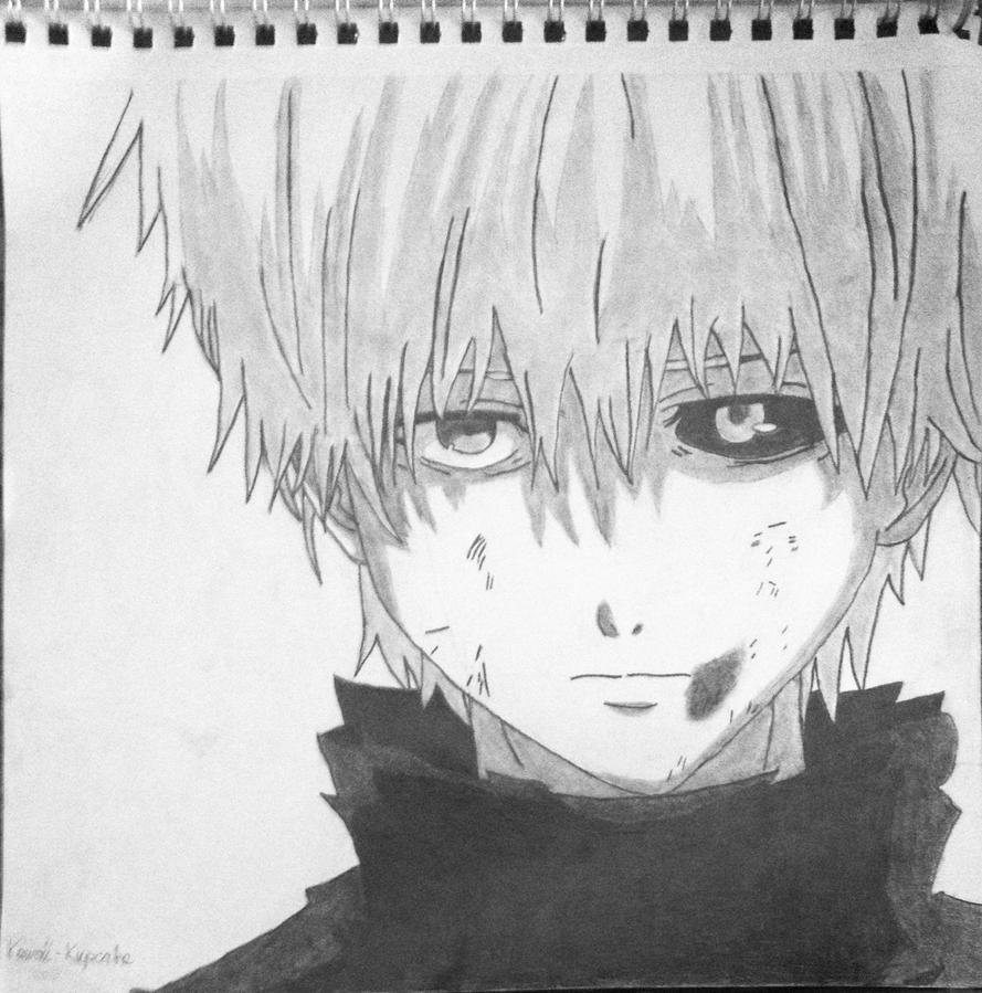 Kaneki Pencil Drawing By Kawaii-Kupcake On DeviantArt
