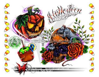Halloween flash page by MattieMacabre