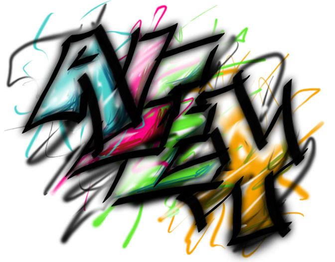 Alex En grafiti - Imagui