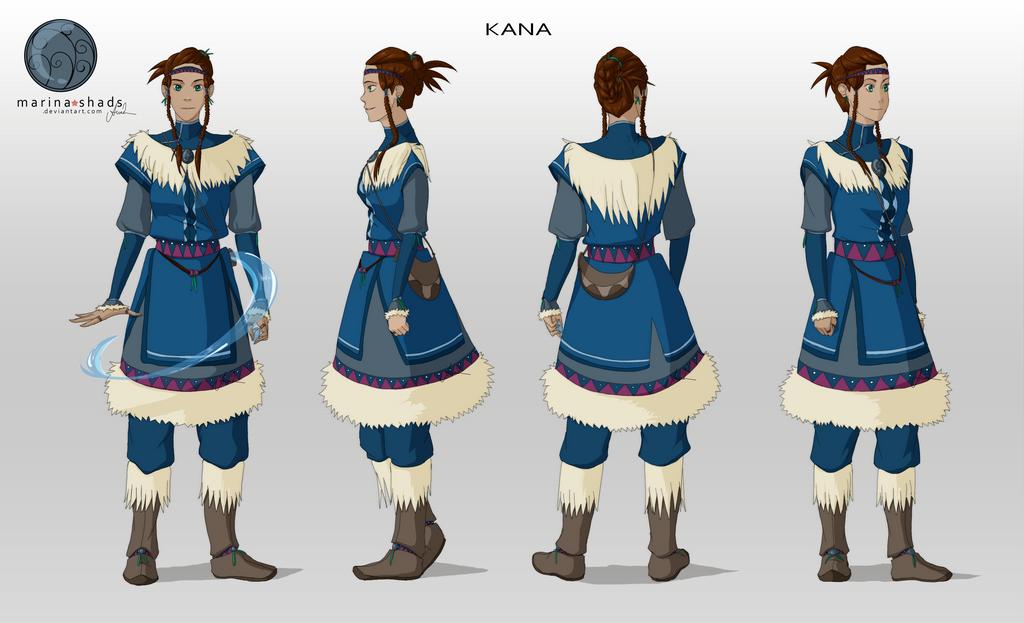 Avatar Last Airbender Character Design : Kana avatar character concept design by marina shads on