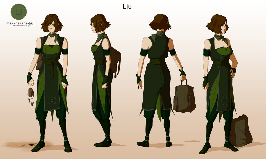 Character Design Avatar The Last Airbender : Liu avatar character concept design by marina shads on