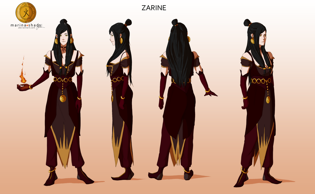 zarine avatar character concept design by marina shads on deviantart
