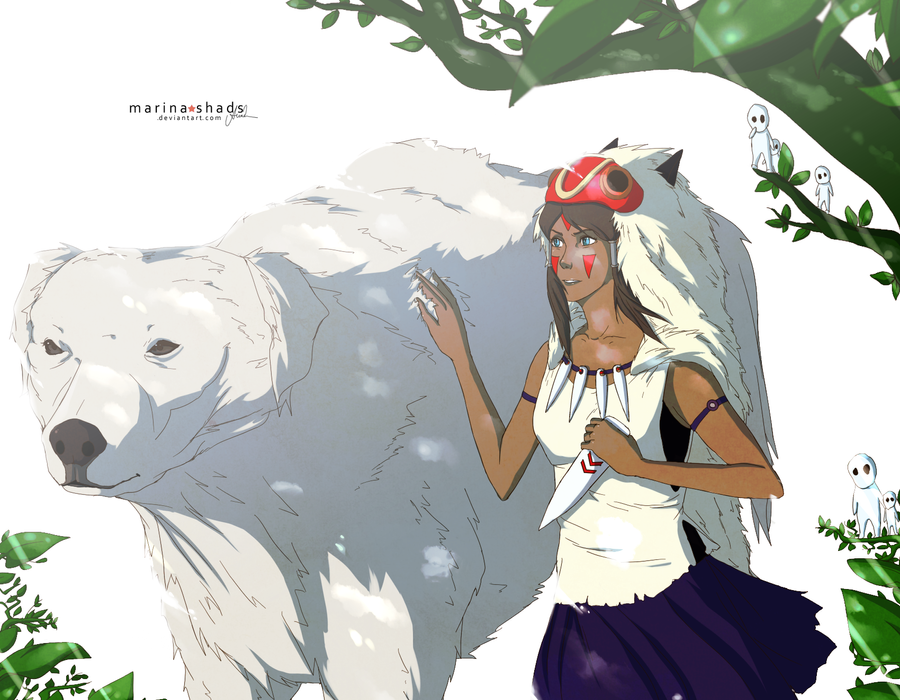 Legend of Mononoke Hime by Marina-Shads