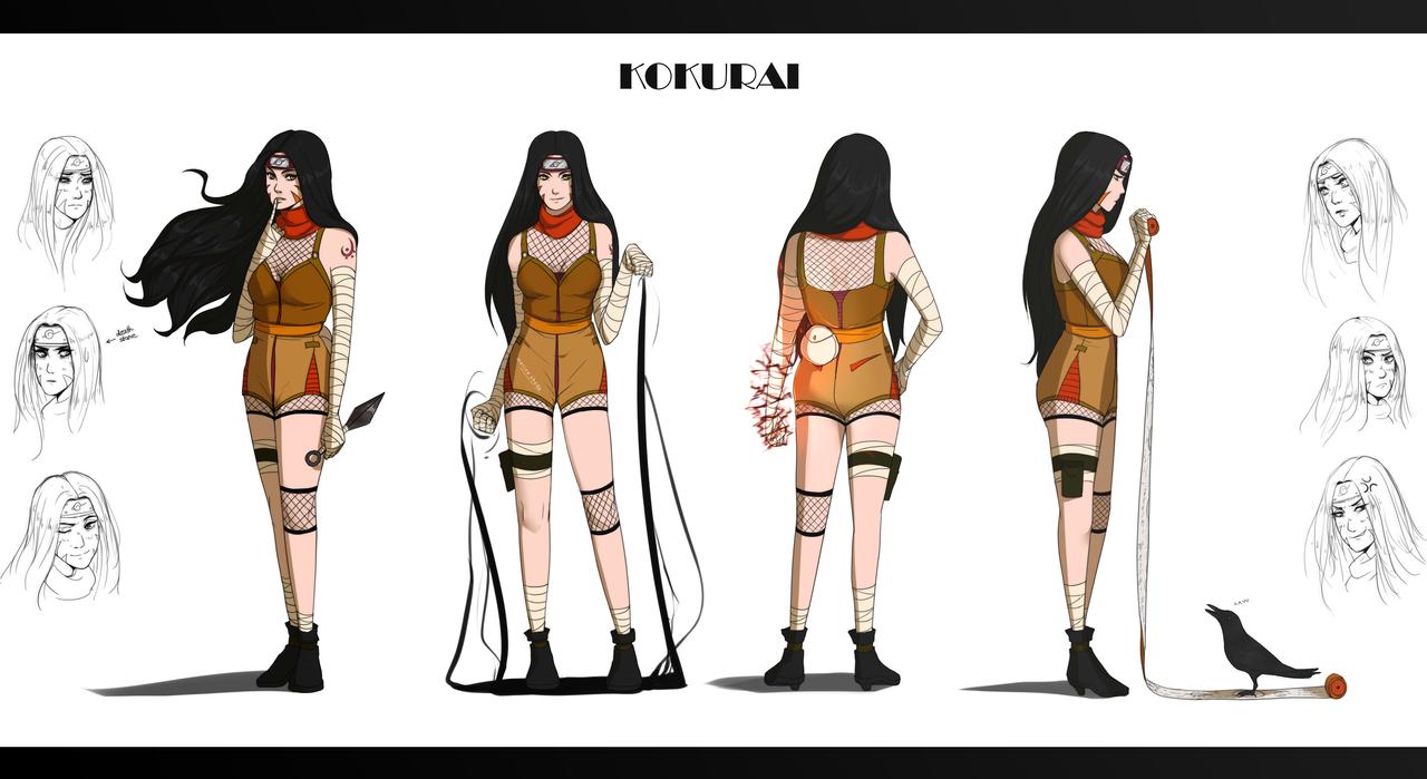 Naruto The Last Character Design Color : Kokurai naruto character design by marina shads on