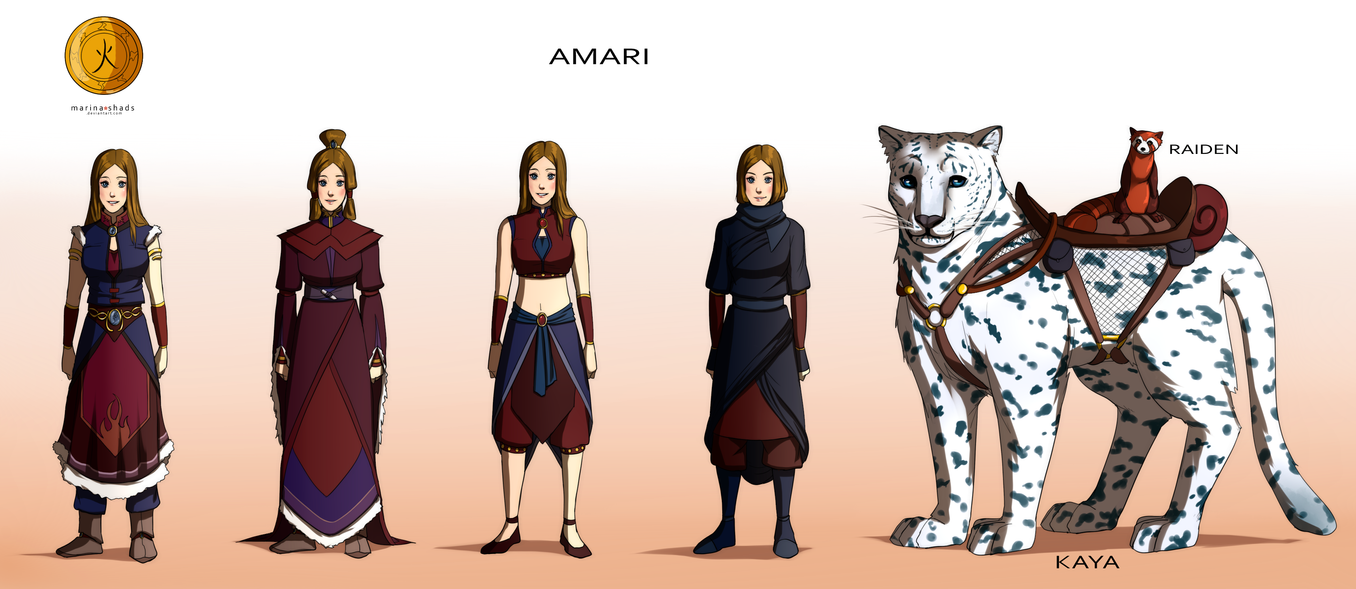 Character Design Avatar The Last Airbender : Commission amari character concept design by marina