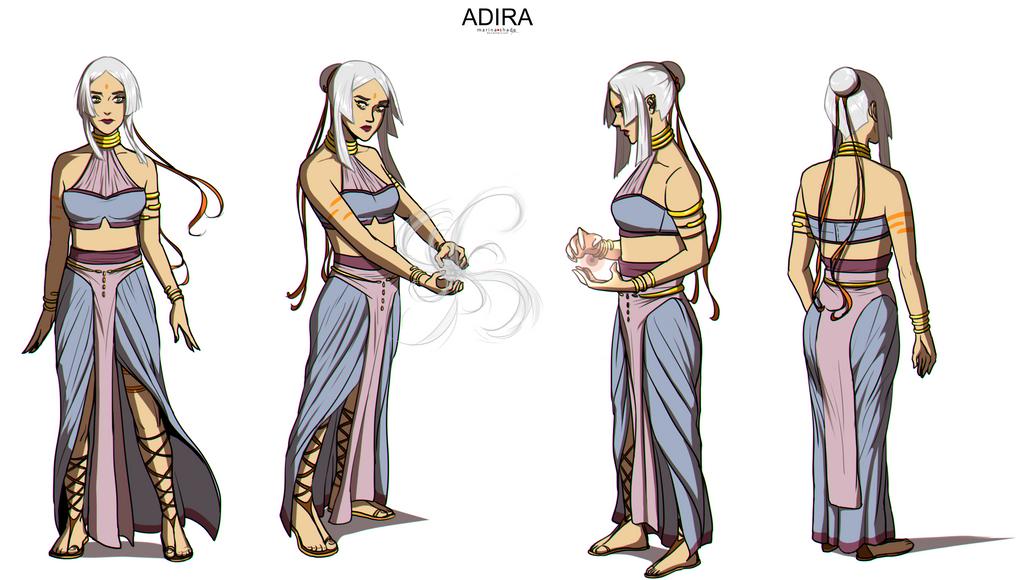 Art block - Character Concept Design - ADIRA by Marina-Shads