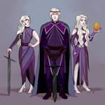 Visenya, Aegon and Rhaenys