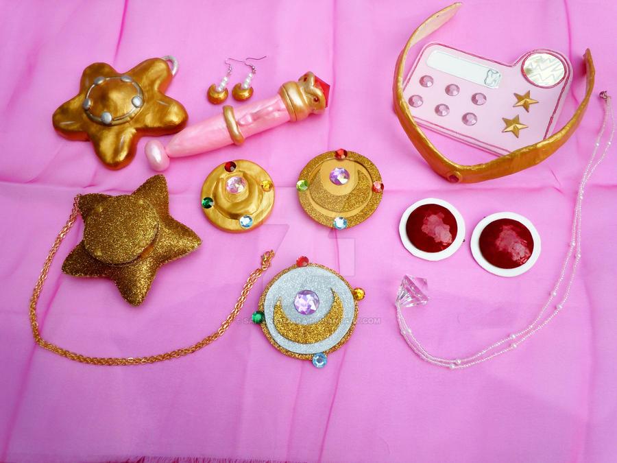 My Handmade Sailor Moon Classic Season Accessories by SailorSamara
