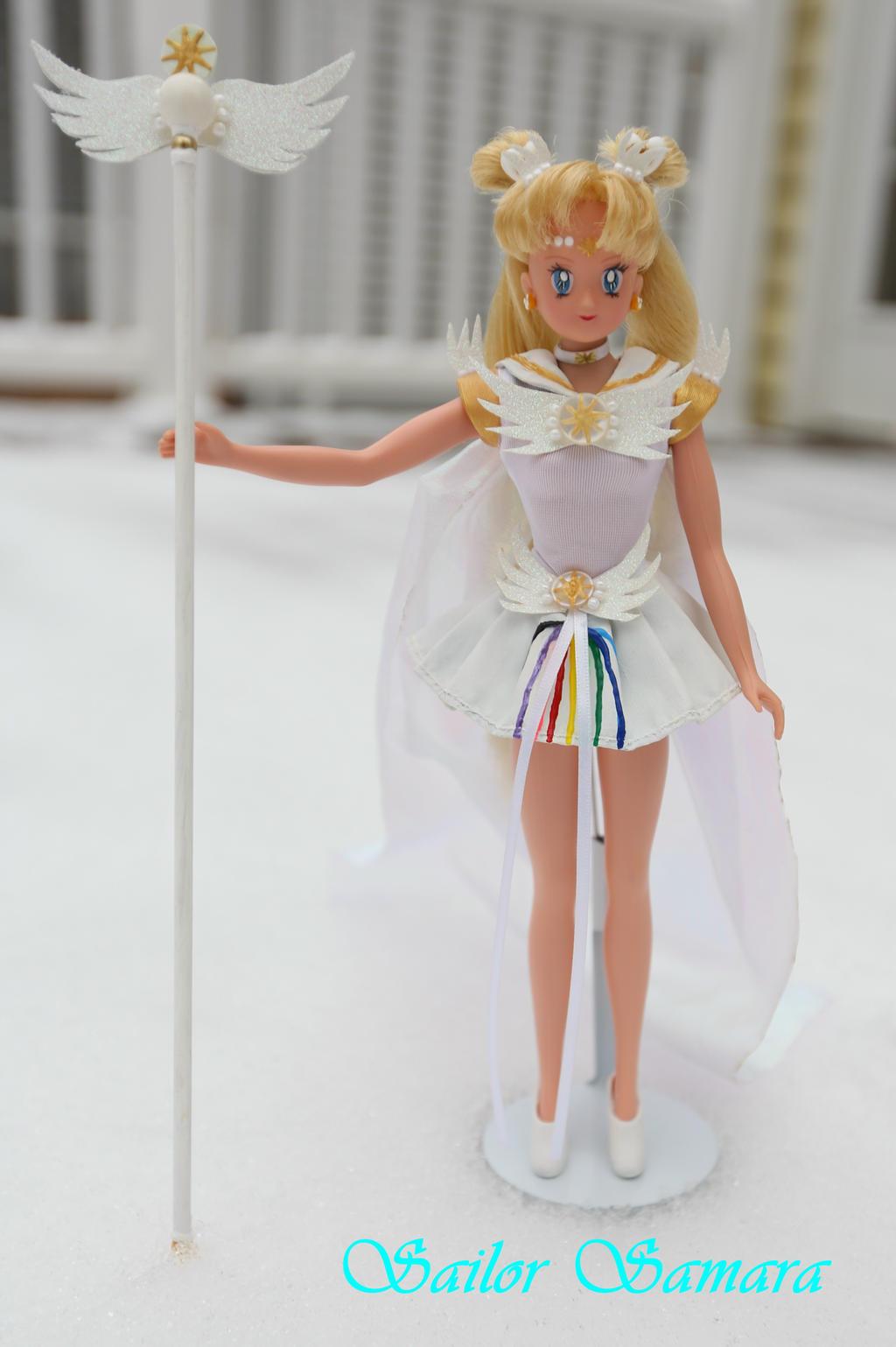 sailor cosmos from sailor moon stars custom doll by sailorsamara