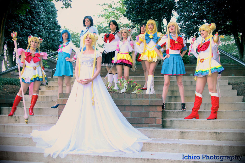 Sailor Moon Senshi Group AWA 2013 by SailorSamara
