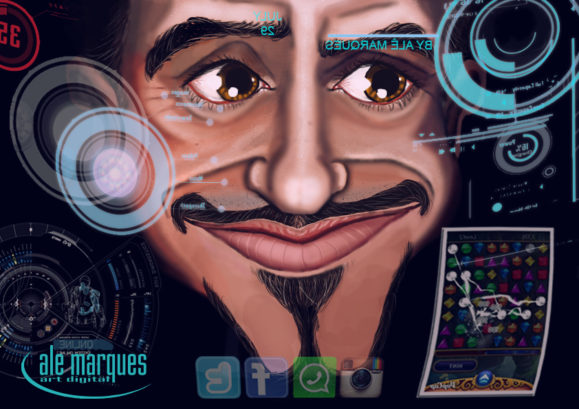 J.A.R.V.I.S and Tony Stark - IRON MAN by alemarques21