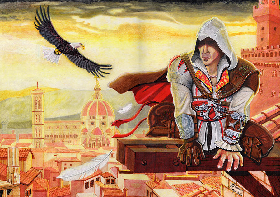 Ezio Auditore: Assassin's Creed 2 by alemarques21