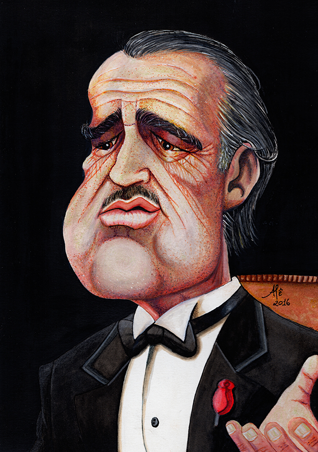 DON CORLEONE - CARICATURE by alemarques21