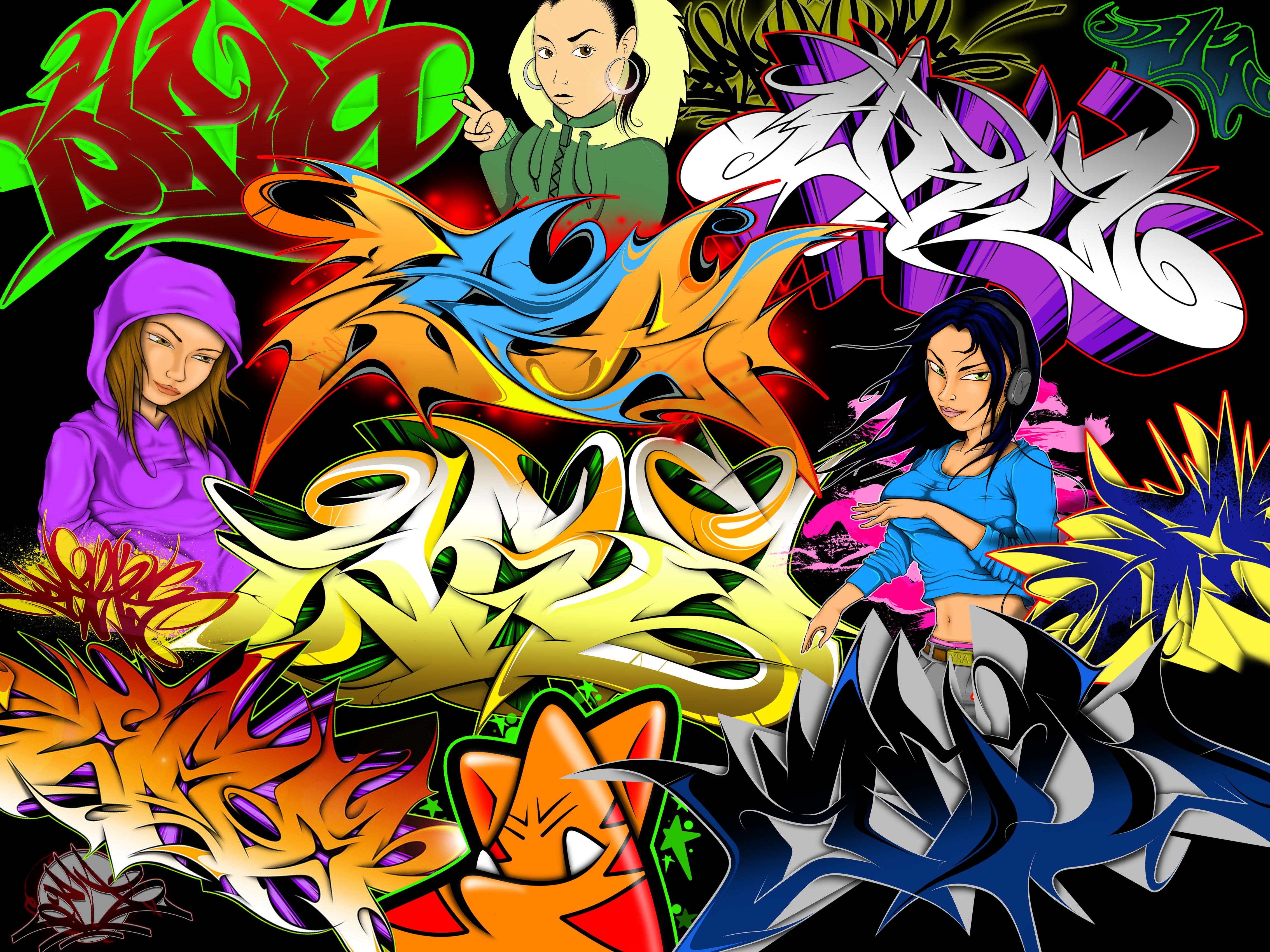 Graffiti collage by yrastilo