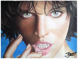 Milla Jovovich retrato