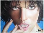 Milla Jovovich retrato by yrastilo