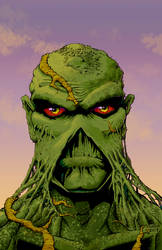 Swamp Thing Mugshot Colors 300dpi