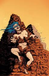 Grandpa's Pet Demon - Rock Prison Cover - Colors