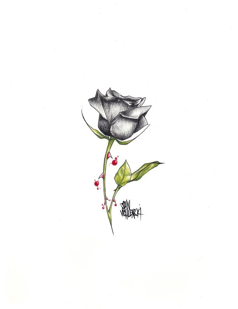 black rose tattoo edited by johnvichlenski on deviantart. Black Bedroom Furniture Sets. Home Design Ideas