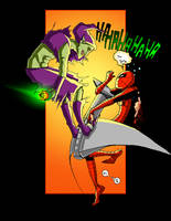 Spider-Man and The Goblin Collaboration by JohnVichlenski