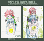 Draw this again: Hiroshi and 'girl'