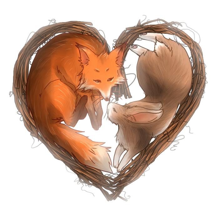Spirits Fox and Rabbit