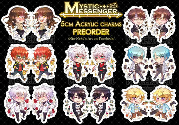 Mystic Messenger Acrylic Charms PREORDER [OPEN]!