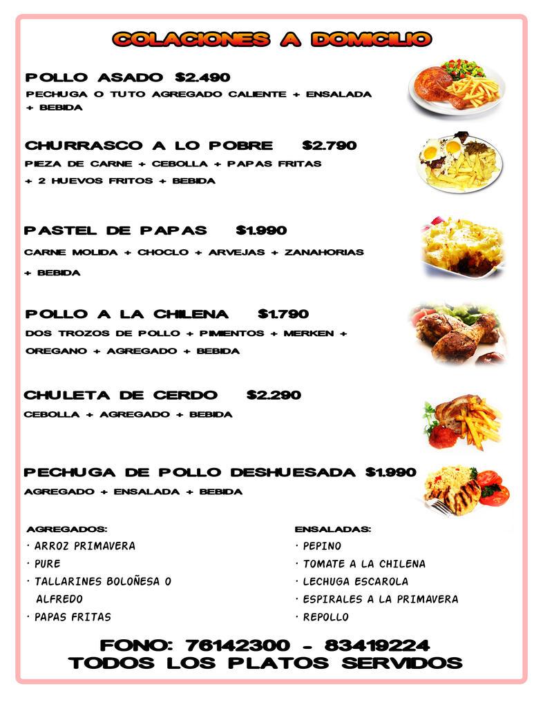 Menu comida rapida by walfordmasters on deviantart - Menus para comidas familiares ...