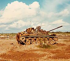 M 90 Sherman Tank by roseonin