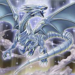 Blue-Eyes White Dragon (The Dark side of Dimension by Yugi-Master