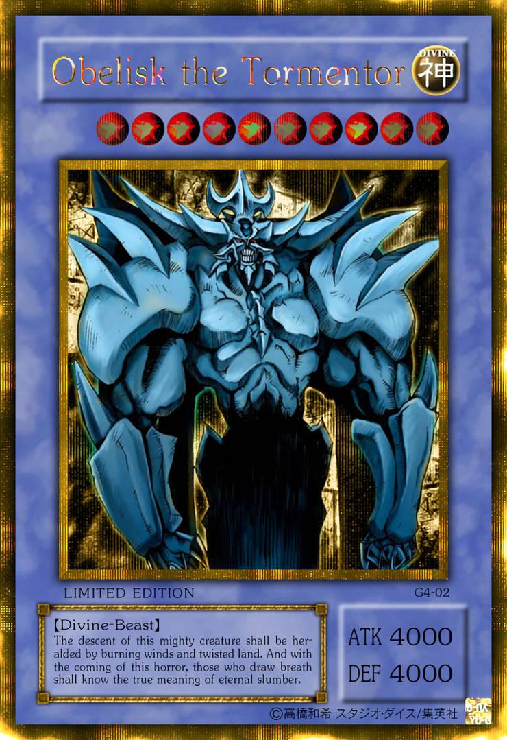 Obelisk the Tormentor Gold Secret Rare by Yugi-Master on ...