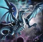 Blue-Eyes White Dragon JUMP Artwork