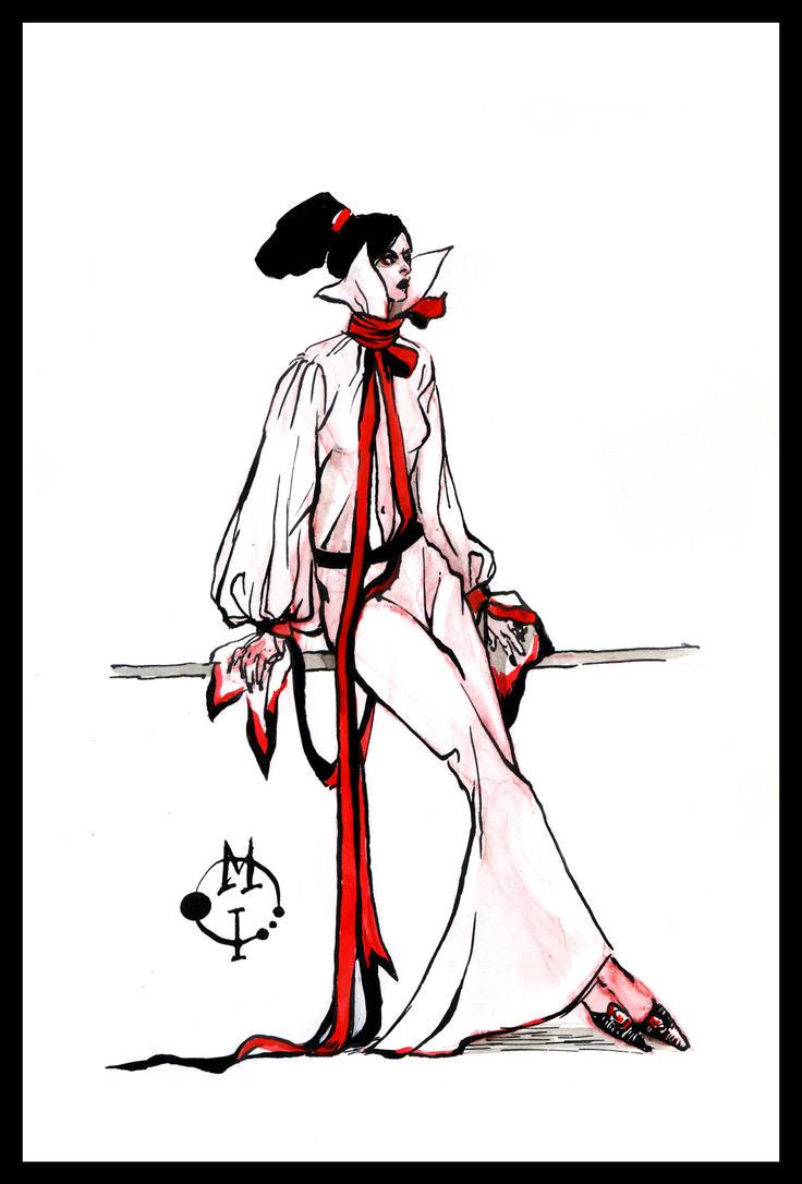 Tight ribbon dress by Kolokolna
