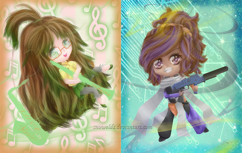 2 x Chibi by SnowELDS