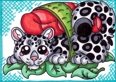 Sushi Snow Leopard by SledgePainter