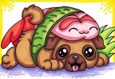 Sushi Pug by SledgePainter
