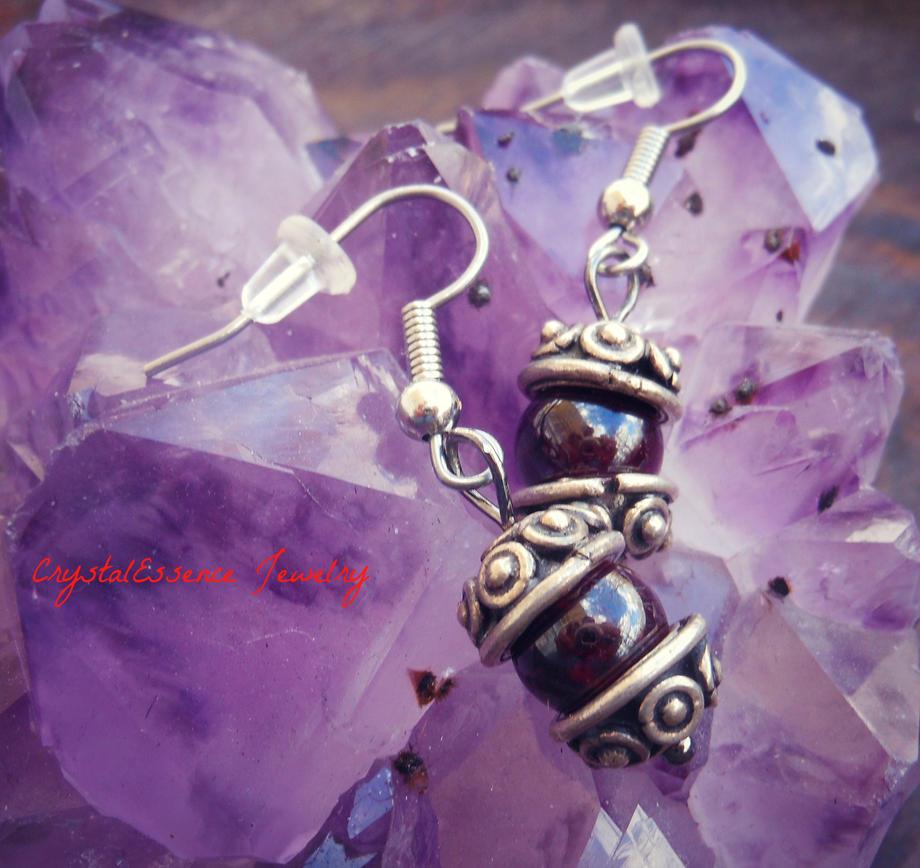 Garnet Earrings by CitrineNightmare90