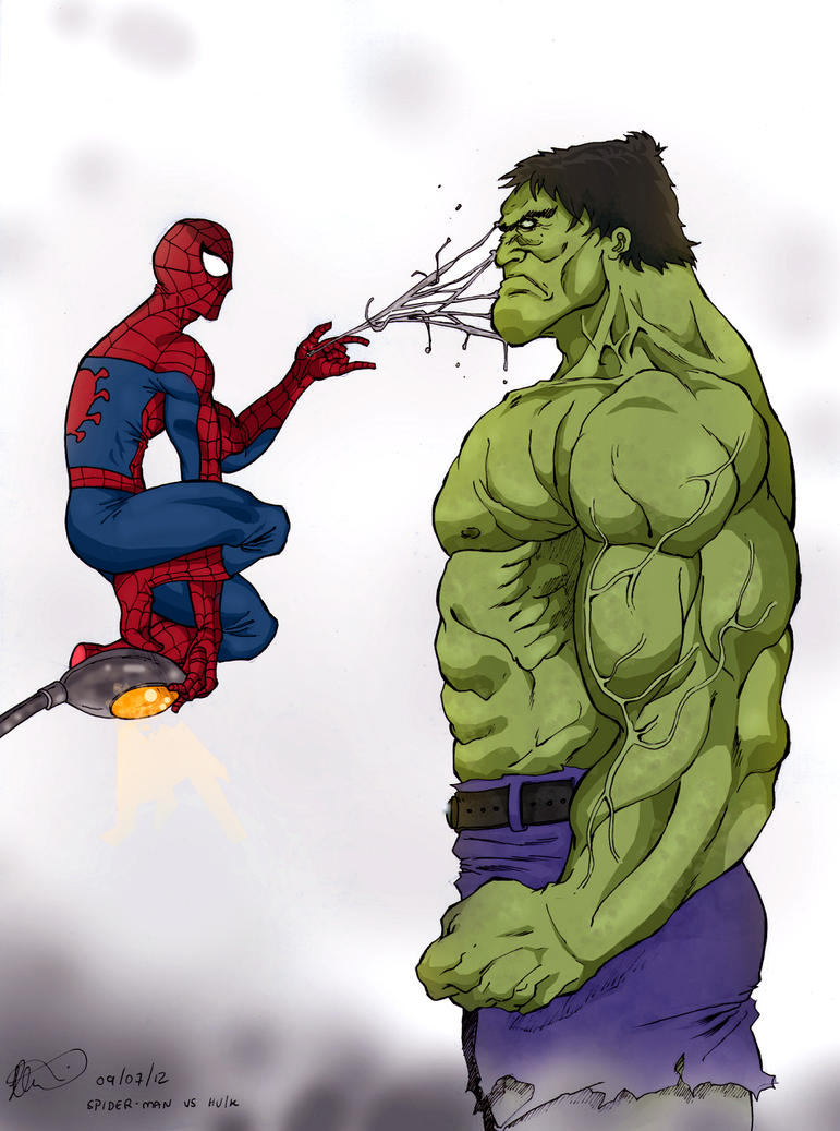 Spiderman VS Hulk by OtavioMH on DeviantArt