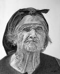 Old Weathered Woman with One Good Eye