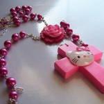 Kitty Rosary Necklace3
