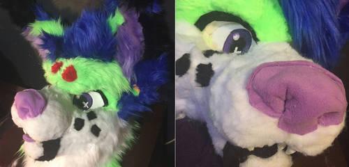 Bobcat/Wolf Fursuit head by MumzyHyenaBat