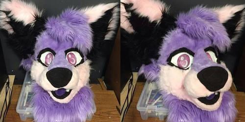 Smudge - Fursuit Head by MumzyHyenaBat